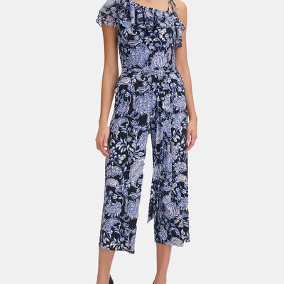 Tommy Hilfiger Paisley Floral One-Shoulder Jumpsuit - VendaStores