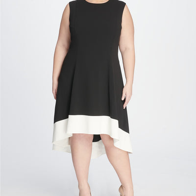 Tommy Hilfiger Plus Size Hi-Low Colorblock Dress - VendaStores