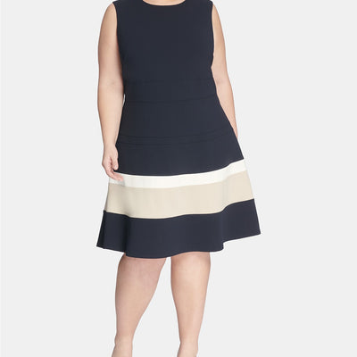 Tommy Hilfiger Plus Size Scuba Fit & Flare Dress - VendaStores