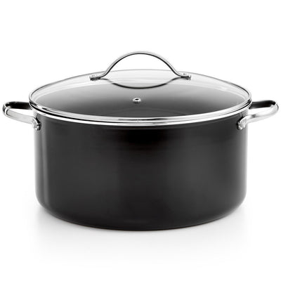Tools of the Trade 11 Qt. Covered Dutch Oven - Black - Non-stick - VendaStores