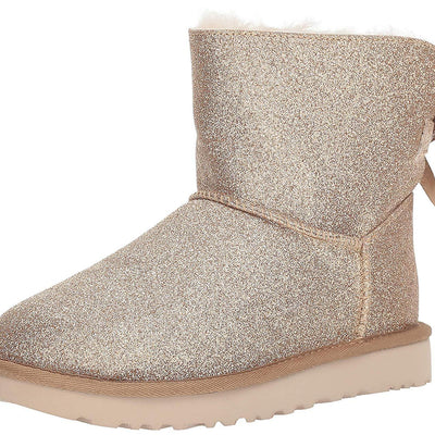 UGG Women's Mini Bailey Bow Sparkle Booties - VendaStores