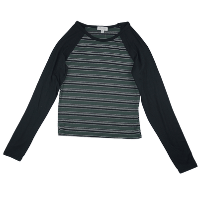 Ultra Flirt Long Sleeve Crop Raglan Baseball Top - VendaStores