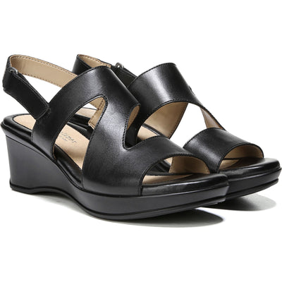 Naturalizer Valerie Wedge Sandal in Black - VendaStores