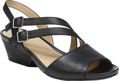 Naturalizer GIGI Black Leather Sandal - VendaStores