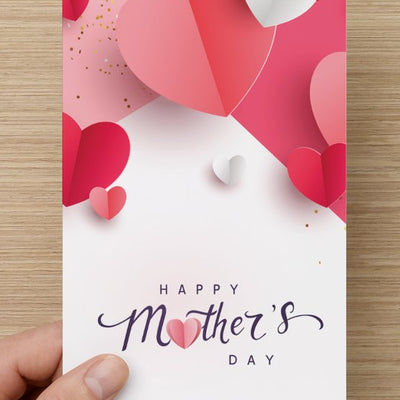 Happy Mother's Day Card - White - VendaStores
