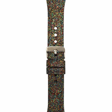 INC Women's Rainbow Glitter Silicon Rainbow 42mm