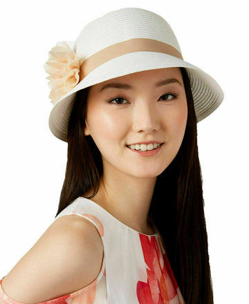 August Hats Tea Time Cloche White ONE SIZE