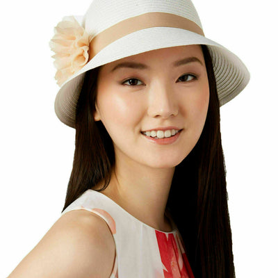 August Hats Tea Time Cloche White ONE SIZE - VendaStores