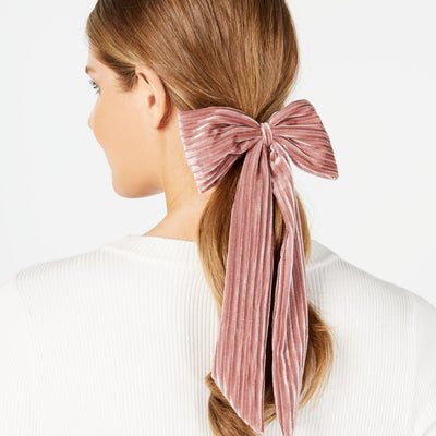 I.N.C. Big Bow Ponytail Holder Pink - VendaStores