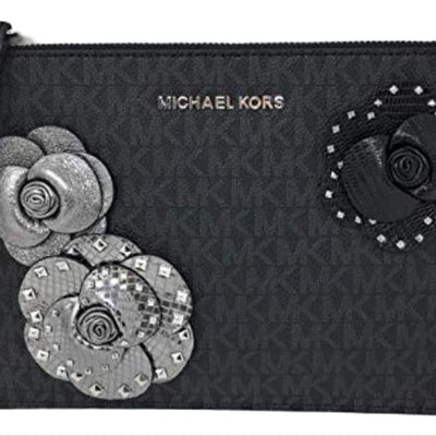 Michael Kors Black Clutch XL Jet Set Travel Zip Wristlet, MSRP $228 - VendaStores