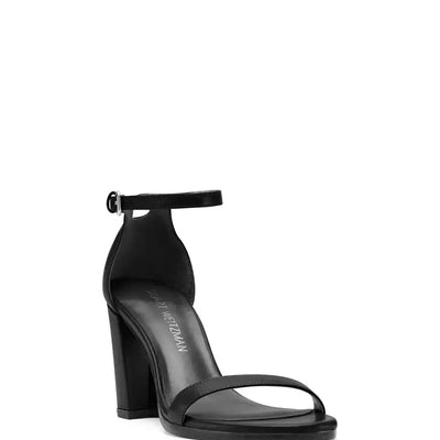 Stuart Weitzman Nearlynude Block-Heel Sandals in Black - VendaStores