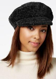 August Hat Company Women's Chenille Modcap Hat Black One Size - VendaStores
