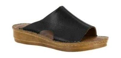 Bella Vita Mae Italy Black Leather Sandal 9 M (US) - VendaStores