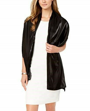 Cejon Shiny Sheen Evening Wrap Black One Size