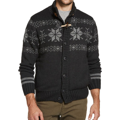 Weatherproof Mens Large Grey Fair Isle Jacket, MSRP C $164 - VendaStores
