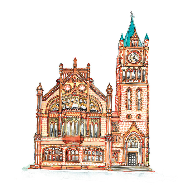 The Guildhall Derry image by Danielle Morgan from Flax Fox
