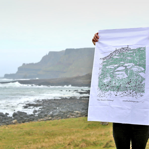 Giant's Causeway Tea Towel Flax Fox