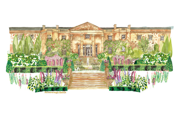 Danielle Morgan drawing of Hillsborough Castle