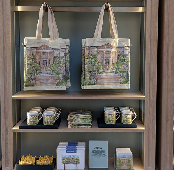 Danielle Morgan Flax Fox Hillsborough Castle design on the shop shelf