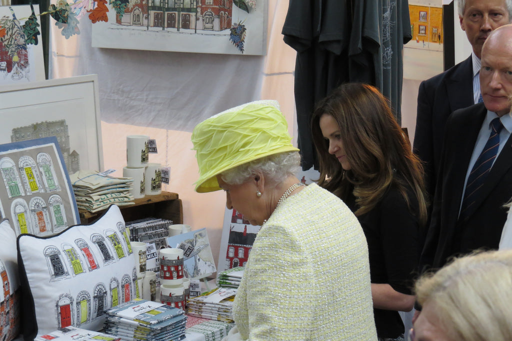 Flax Fox St George's Market meeting Queen Elizabeth II