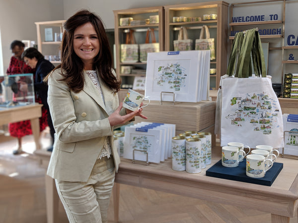 Danielle Morgan Flax Fox displying her product range at Hillsborough Castle