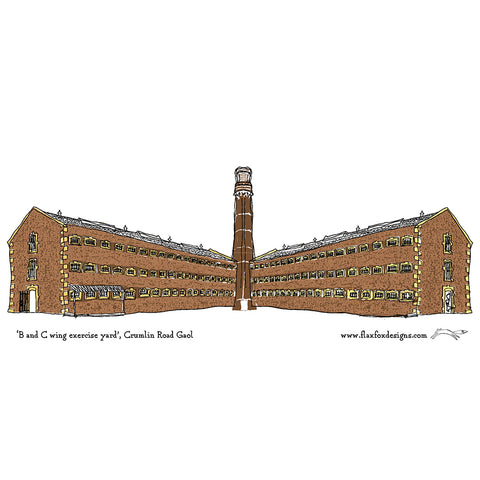 Picture of Crumlin Road Gaol Tower Artist Postcard
