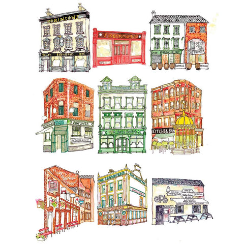 Picture of Belfast Bars, Pub Crawl Print