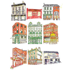 Belfast Bars, Pub Crawl Print
