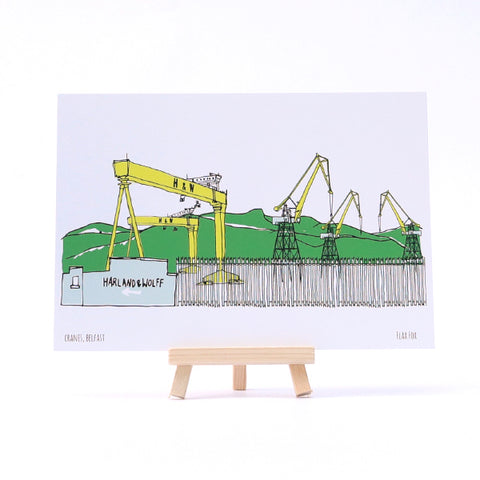 Picture of Cranes, Belfast Postcard
