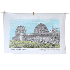 Botanic Gardens Screen Printed Artist Tea Towel