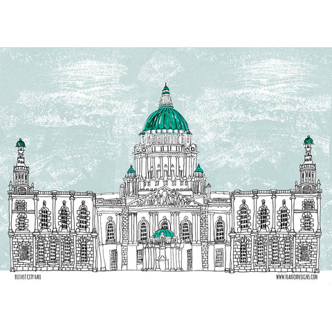 Picture of Belfast City Hall Artist Tea Towel