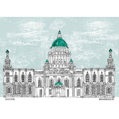 Belfast City Hall Artist Tea Towel