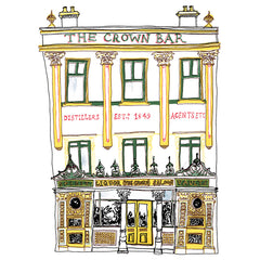 Crown Bar Belfast Artist Postcard