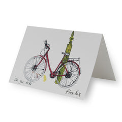 Bicyle Artist Greeting Card