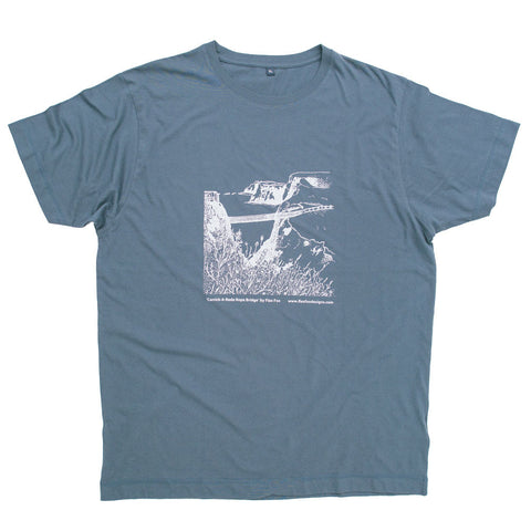Picture of Carrick-a-Rede Rope Bridge Illustrated T-Shirt