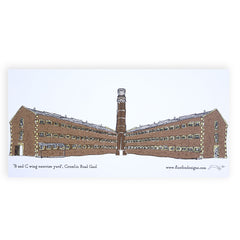 Crumlin Road Gaol Tower Artist Postcard