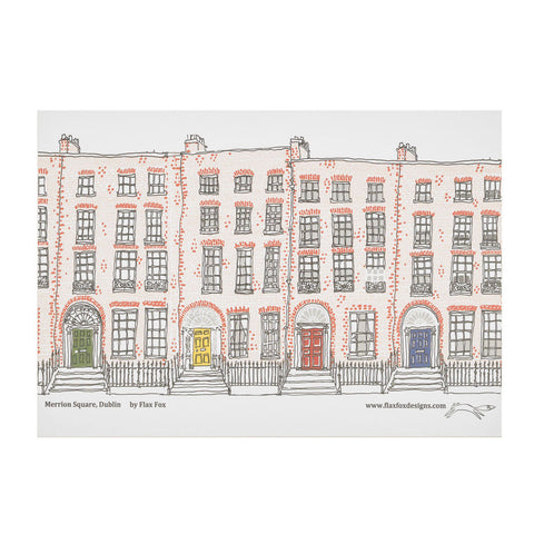 Picture of Merrion Square Dublin Artist Postcard