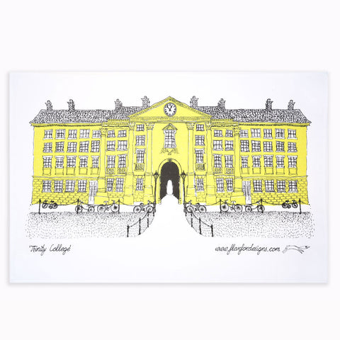 Picture of Trinity College Dublin Screen Printed Artist Tea Towel