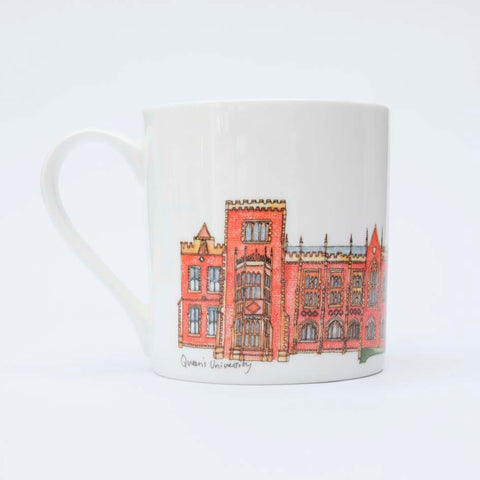 Picture of Queens University Belfast Illustrated Mug