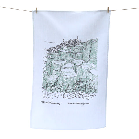 Picture of Giant's Causeway Screen Printed Artist Tea Towel