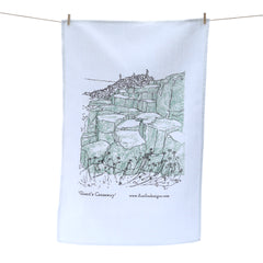 Giant's Causeway Screen Printed Artist Tea Towel