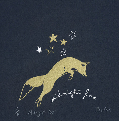 Picture of Midnight Fox Screen Print