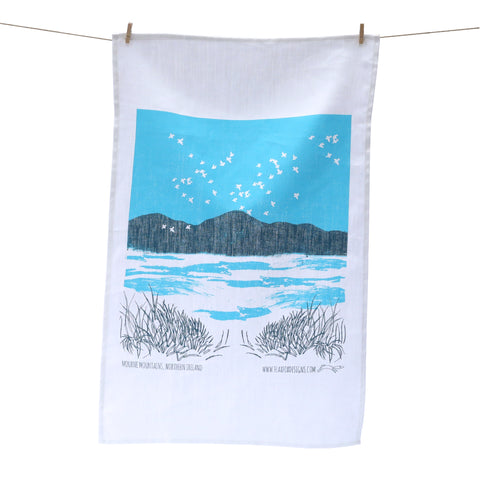 Picture of Mourne Mountain Linen Tea Towel