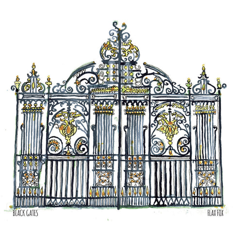 Picture of Black Gates, Postcard