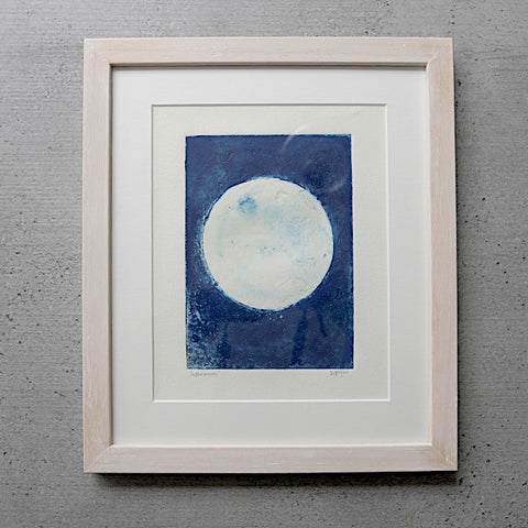 Picture of Moon Collograph Print