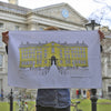 Trinity College Dublin Screen Printed Artist Tea Towel