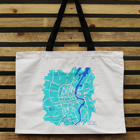 Picture of Belfast Map Tote Bag
