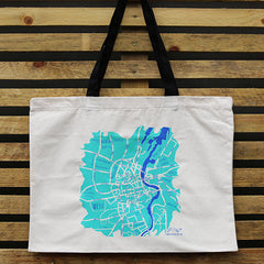 Belfast Map Tote Bag