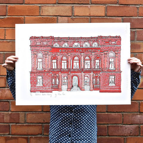 Picture of Screen Print, Belfast Central Library
