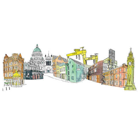 Picture of Belfast City Skyline, Gicleé Print